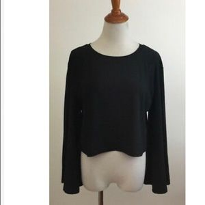 Leith Wide Sleeve Crop Top Small